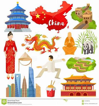 Culture China Chinese Symbols Illustration Wall Asia
