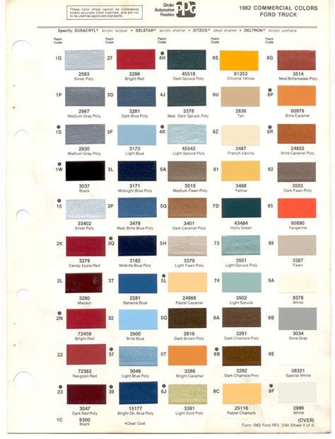 car paint colors list
