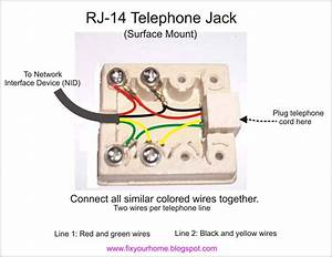 White Wire Telephone Jack Wiring Diagram