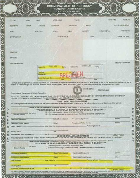 Minnesota Boat Title Transfer by Application Form Application For Kentucky Certificate Of