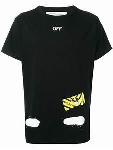 off white c o virgil abloh bicolor t shirt in black for men lyst b825a859100