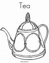 Tea Coloring Teapot Cup Pages Drawing Line Twistynoodle Noodle Pot Printable Communitea Popular Login Favorites Decorative Twisty Built California Usa sketch template