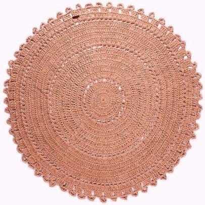 tapis gypsy en jute rond rose varanassi rugs
