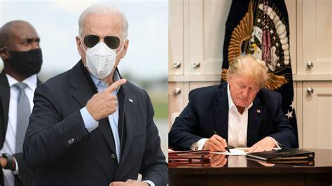 biden trump joe poll donald fox campaign ads negative presidential cnn points against ad covid voters president getty crushes camera