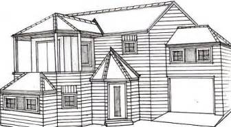 Stunning Images Home Sketch Plans by How To Draw A House Learn To Draw To