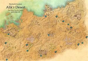 Alik'r Desert Skyshards Location Map - ESO game-maps com