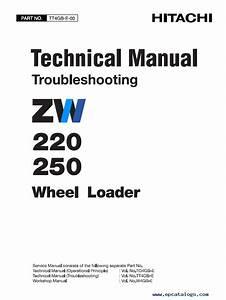 Hitachi Zw220 Zw250 Wheel Loader Pdf Manuals