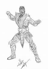Mortal Kombat Coloring Scorpion Sub Zero Blade Sonya Scorpions Popular Template sketch template