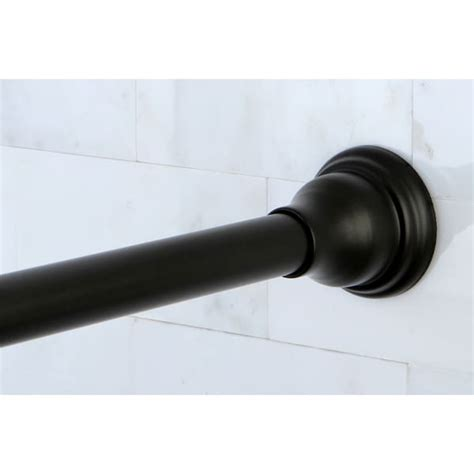 rubbed bronze adjustable shower curtain rod free