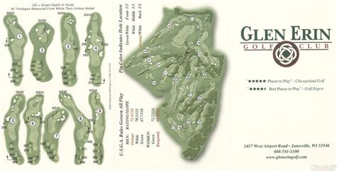 Glen Erin GC - Actual Scorecard | Course Database