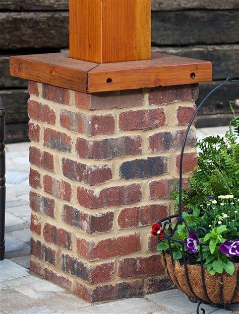 image result  brick base  wooden posts brick porch