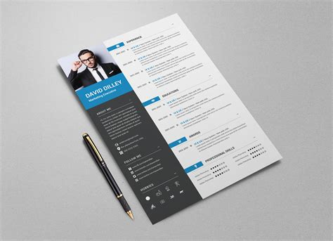 Professional Cv Exles by Free Professional Cv Template Cover Letter For Marketing
