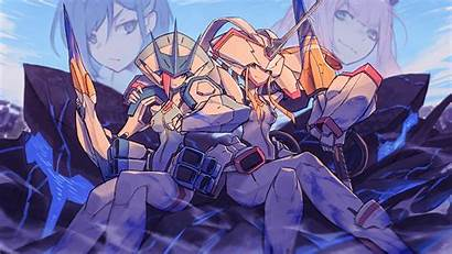 Hiro Franxx Zero Darling Face Anime Purple