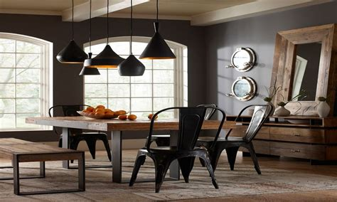 color  paint  dining room industrial dining room