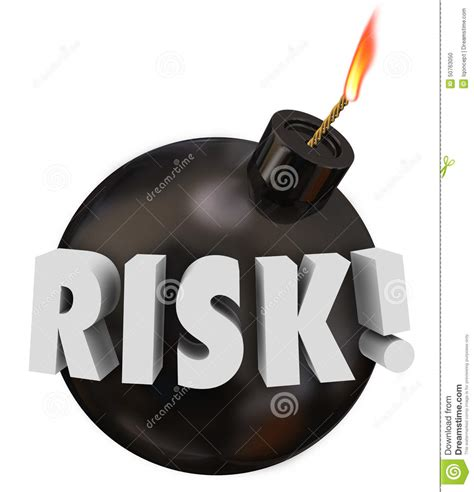 Potential Problems by Risk Word Black Bomb Danger Warning Potential