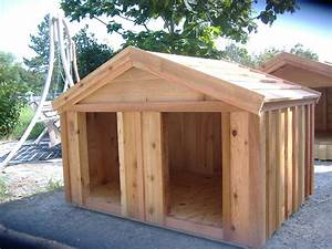 Large wooden dog house custom ac heated insulated dog house for Wood dog houses for large dogs