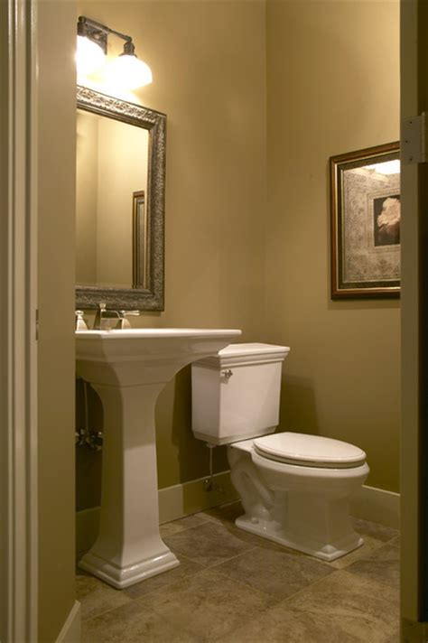 country walkout traditional powder room calgary