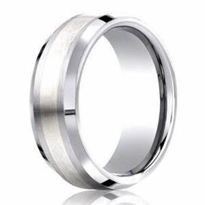 7mm designer cobalt chrome men39s wedding ring with silver With cobalt chrome men s wedding rings