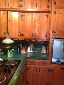 Painting knotty pine cabinets hometalk for Kitchen cabinets lowes with canvas mason jar wall art