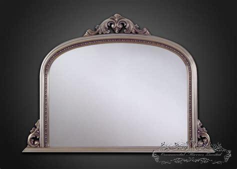 silver  mantel mirrors