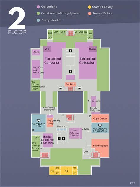 floor maps meriam library