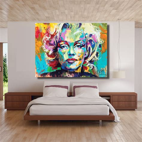 marilyn home decor hdartisan marilyn portrait painting abstract