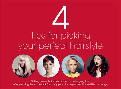 4 Tips For Picking Your Perfect Hairstyle (infographic