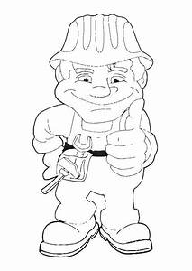 Construction Worker Coloring Pages Coloring Home