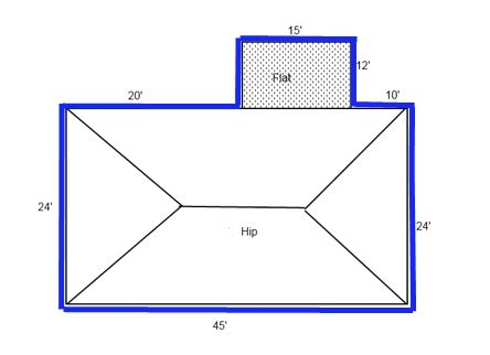hip roof calculator shingles minimalist measuring and calculating hip and non hip roofs honor