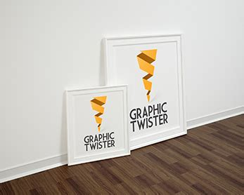double left poster frame mockup