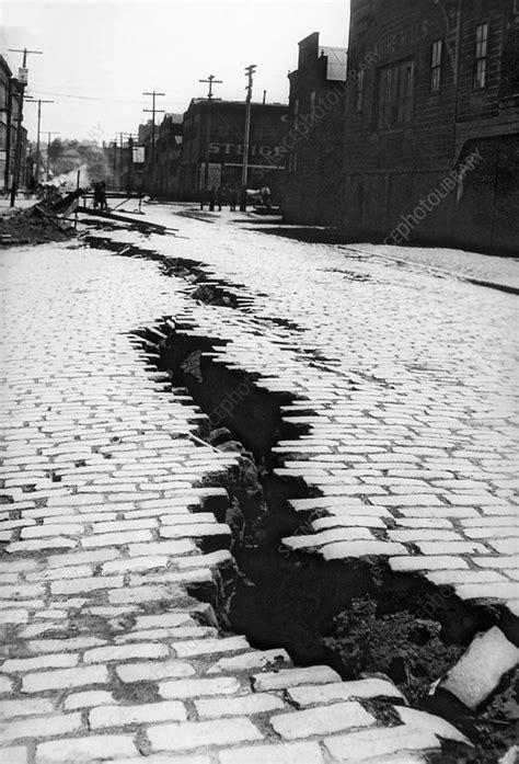 san francisco earthquake damage stock image