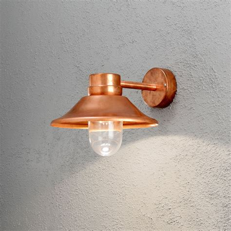 konstsmide 412 900 1 light led copper outdoor wall light