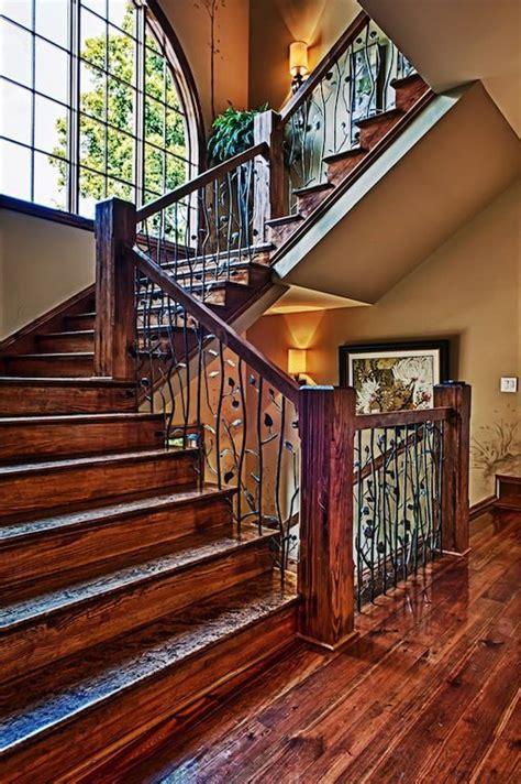 nice stairs  elegant newels rustic stairs rustic staircase stairs