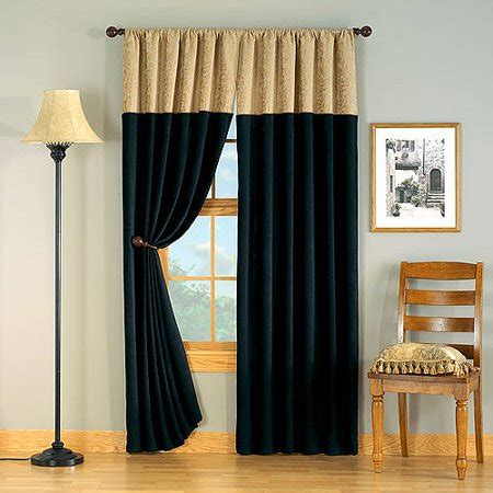 black and gold drapes hometrends versailles chenille window curtain 1 panel