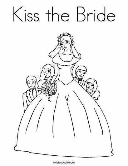 Coloring Bride Kiss Pages Brides Pretty Happy