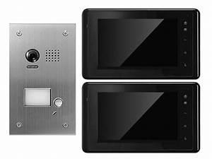 Klingel Mit Gegensprechanlage : t rsprechanlage gegensprechanlage mit kamera mit 2 monitoren 170 grad ~ One.caynefoto.club Haus und Dekorationen