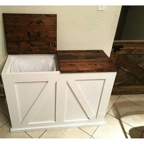 rustic kitchen trash cans ideas  pinterest