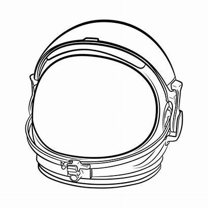 Helmet Astronaut Space Drawing Line Suit Clip