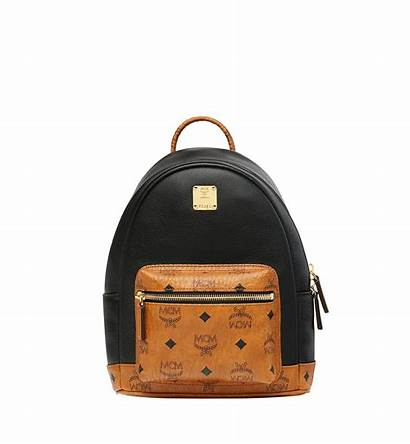 Backpack Modesens Mcm Canvas Visetos Leather