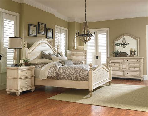 Bedroom Furniture by Standard Furniture Chateau Poster Bedroom Set In In Bisque
