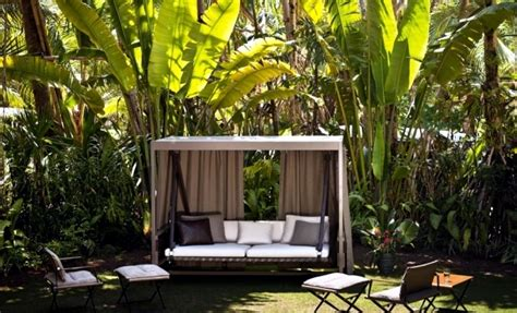 modern garden swing design  garden  terrace