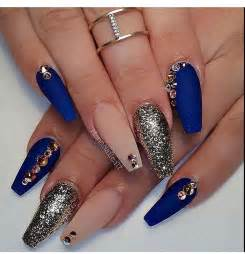 Best ideas about royal blue nails on nail