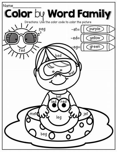 Worksheets Reading Summer Kindergarten Activities Word Coloring
