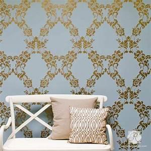 Modello Designs Large Wall Stencils Vintage Flower Stencils For Diy