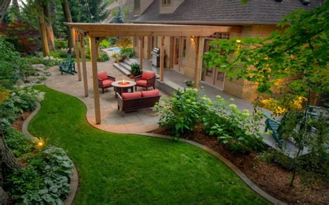 landscaped backyards pictures 18 backyard landscaping designs ideas design