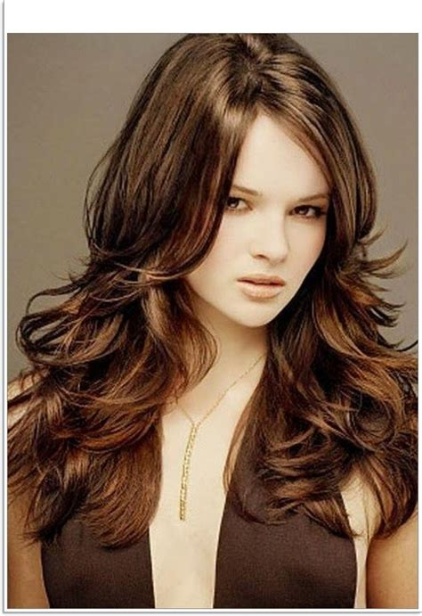 best layered haircuts for thick hair 2018 popular chunky layered haircuts hair 5574
