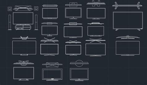 tv cad block cad block  typical drawing  designers
