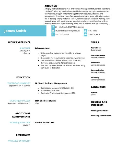 How To Write A Cv For A Application by How To Write A Cv What To Include In A Cv Studentjob Uk
