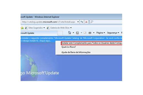 baixar atualização individuais do windows 7