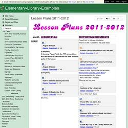 curriculum and elementary lesson plans for library media pearltrees